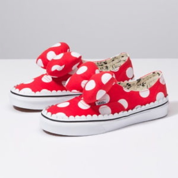 Vans Shoes | Disney Minnie Vans Slipons